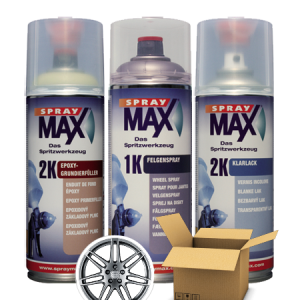 SprayMax 2K zilver velgen lak spuitbus