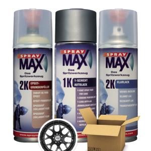 SprayMax 2K zwart velgen lak spuitbus